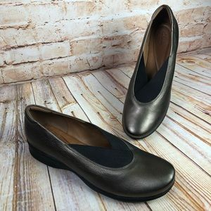 Clarks Artisan AUBRIA FAY Bronze Leather Shoes